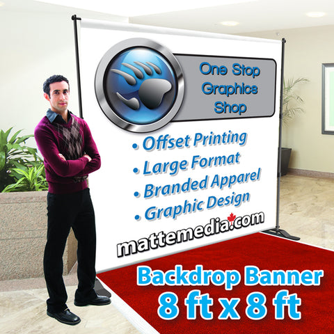 Backdrop Banner -8ft X 8ft