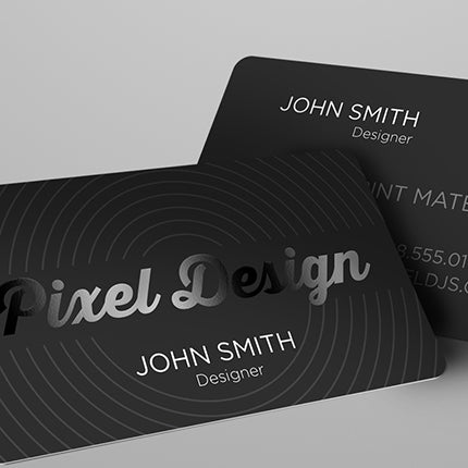 Business Cards with Satin Lamination & Spot Gloss UV
