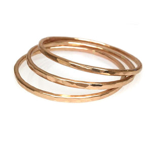 Hammered LA 20K Gold Hammered Bangles