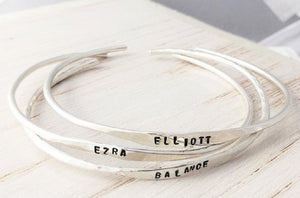 Sterling Silver Open Stamped Bangle