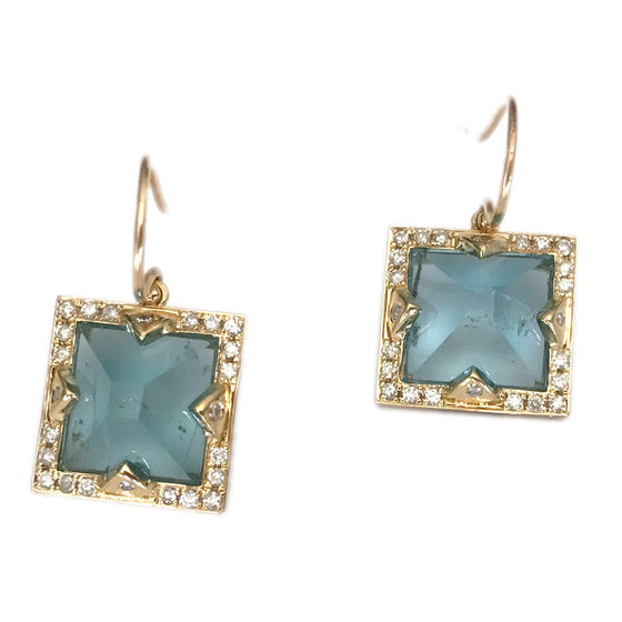 Blue Aquamarine Earrings