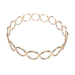 Hammered LA 20K Gold Filled Small Circle Bangle