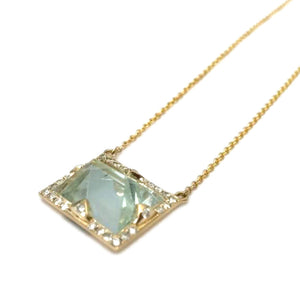 Green Aquamarine Necklace