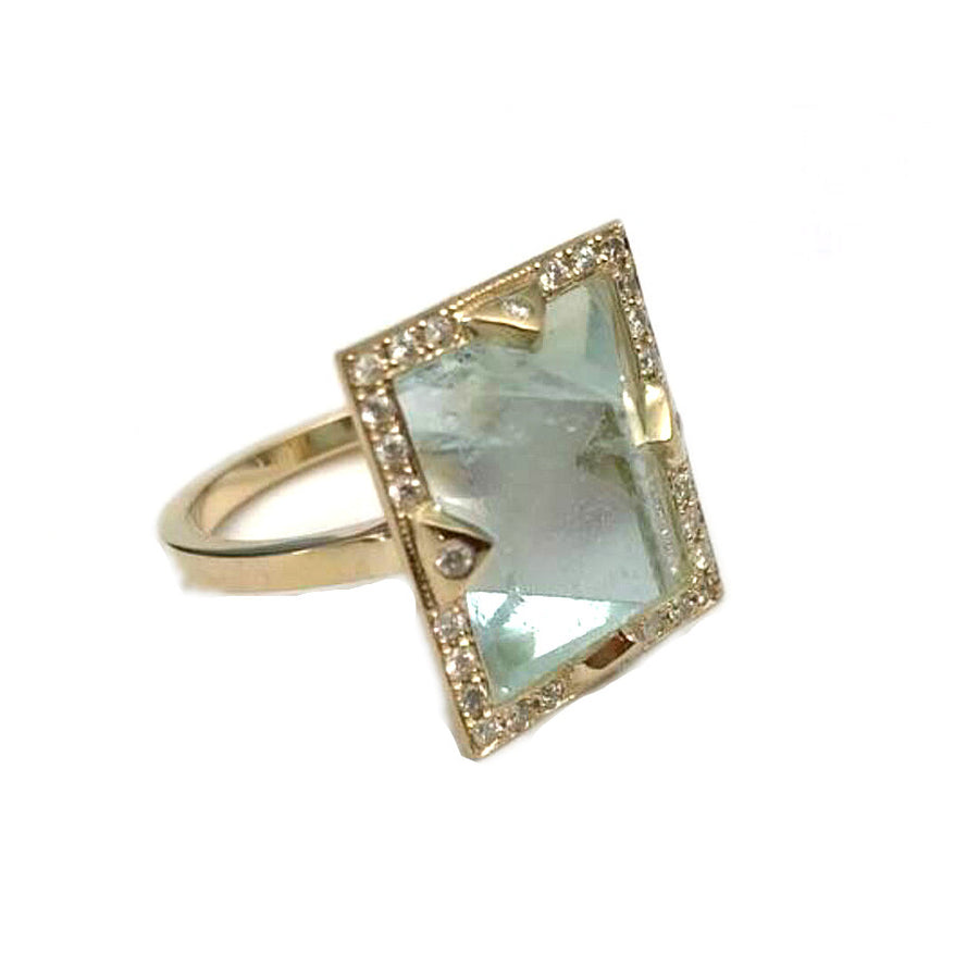 Green Aquamarine Ring
