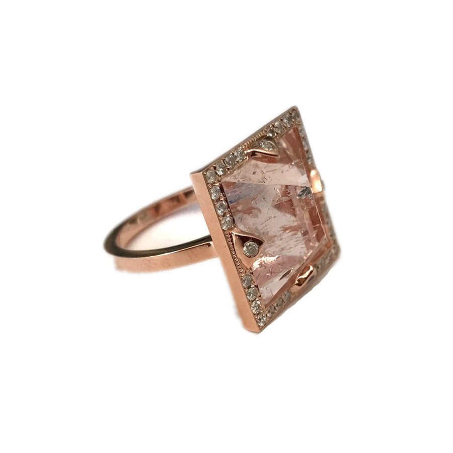 PINK AQUAMARINE RING
