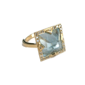 Blue Aquamarine Ring