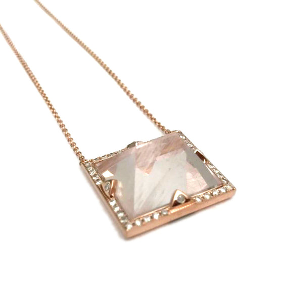 PINK AQUAMARINE NECKLACE