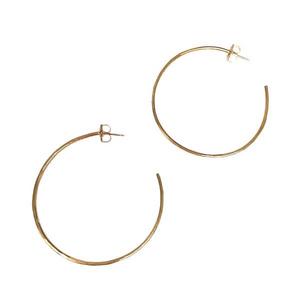 Edina Kiss 20K Gold Signature Hoops