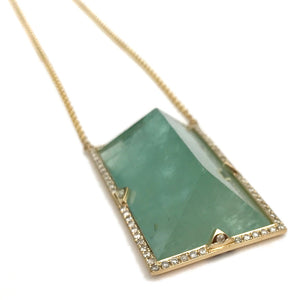 Green Aquamarine Pendant