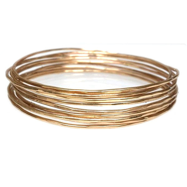 Signature Gold Hammered Bangles (Set of 5)
