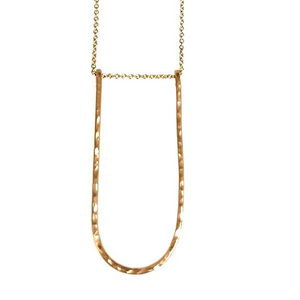 Edina Kiss 20K Gold Long Arch Necklace