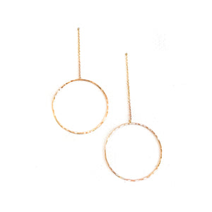 Circle Chain Earrings