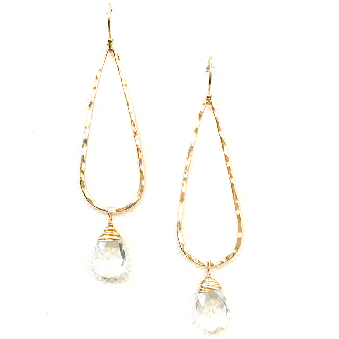 Day 6:  Crystal Teardrop Earrings