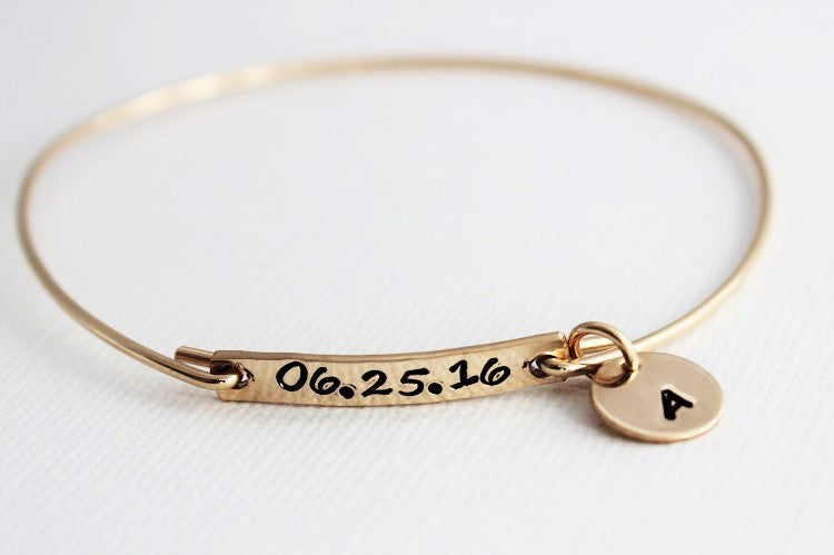 Date + Initial Bangle