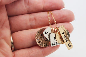 Mixed Metals Family Necklace
