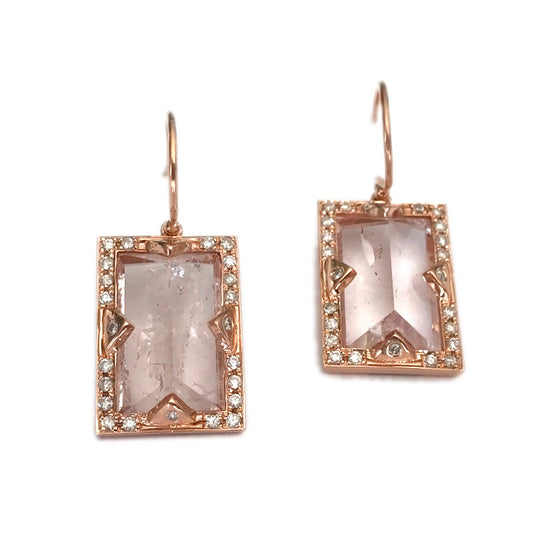 PINK AQUAMARINE EARRINGS