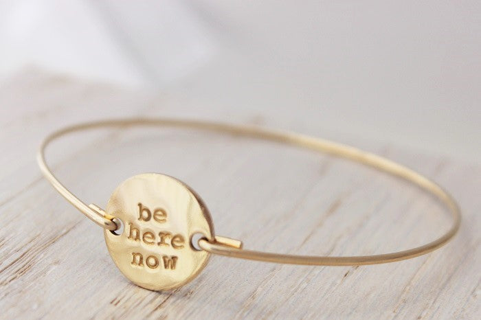 Personalized Round Disk Bangle