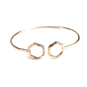 Double Hexagon Cuff