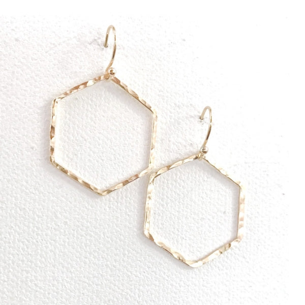 Simple Hexagon Earrings
