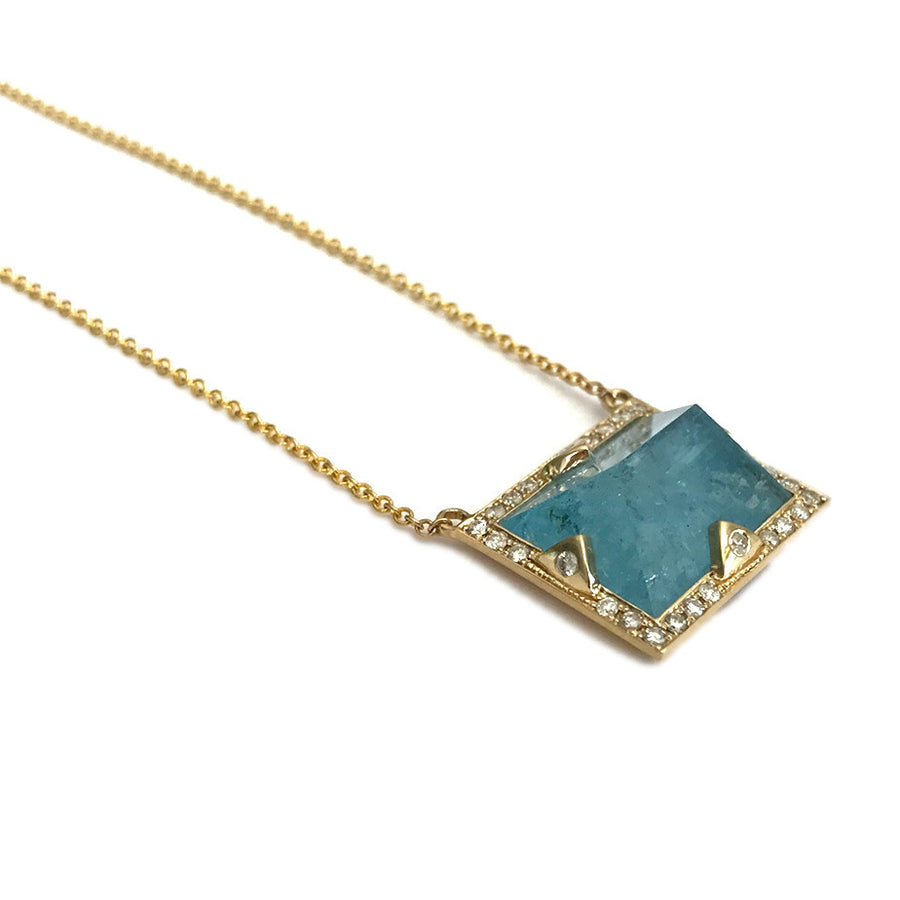 Blue Aquamarine Necklace