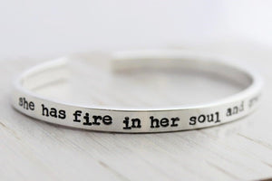 She Has Fire In Her Soul Cuff