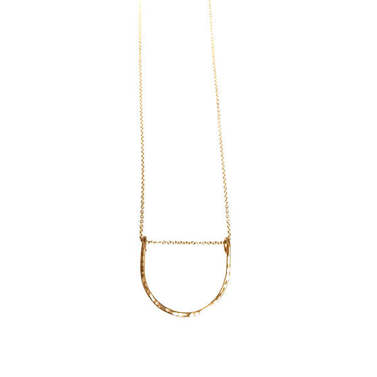 Hammered LA Hammered Half Circle Necklace