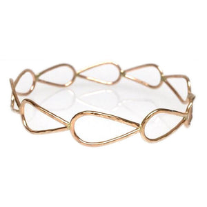Teardrop Gold Bangle