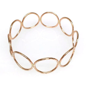 Hammered LA 20K Gold Circle Bangle