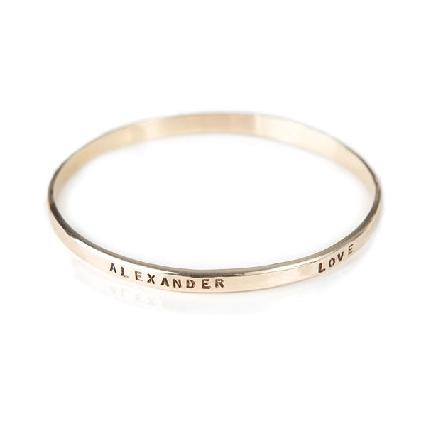 20K Gold Filled Name Bangle