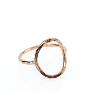 20K Gold Filled Oval Hammered Ring