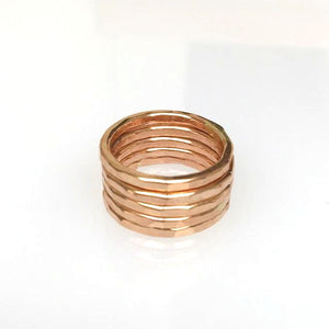 Rose Gold Stack able Rings (Set of 5)