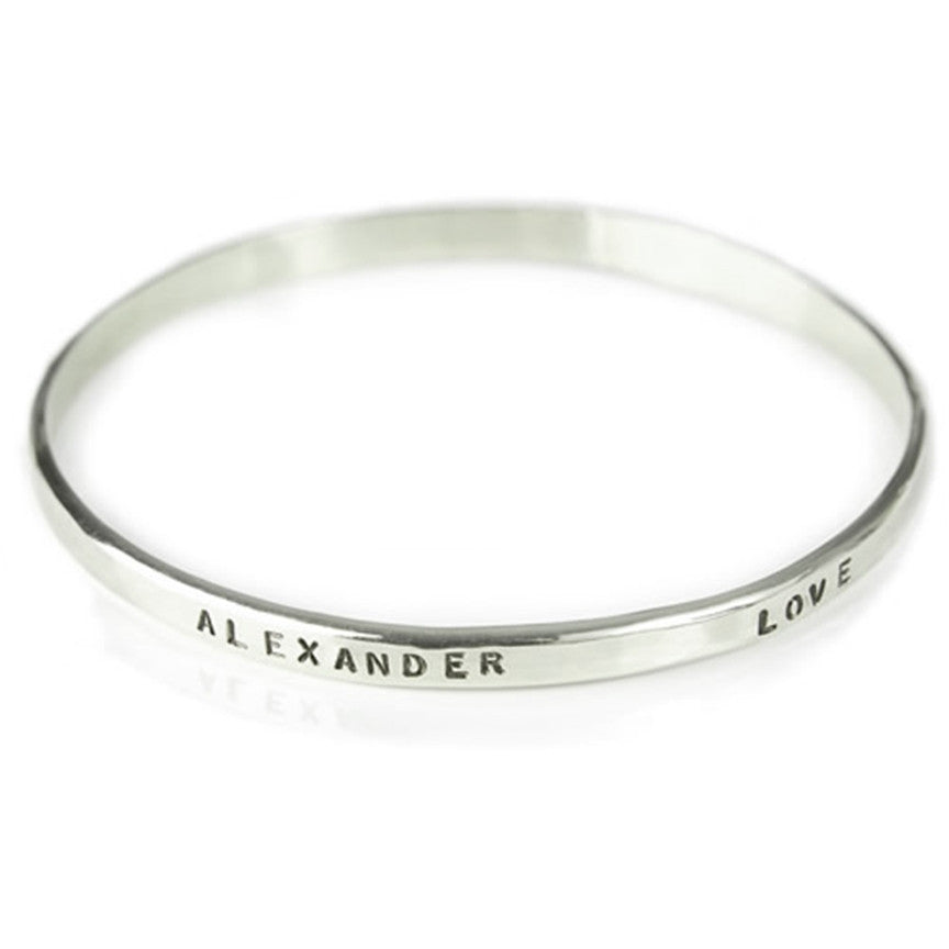 Sterling Silver Name Bangle
