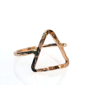 20K Gold Filled Triangle Hammered Ring