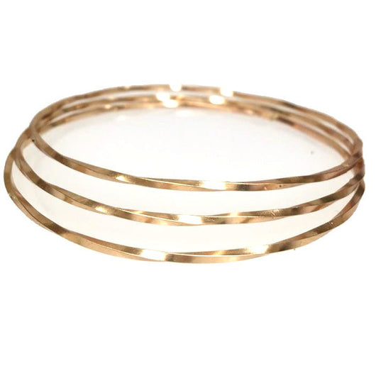 Twisted Gold Bangles (Set of 3)