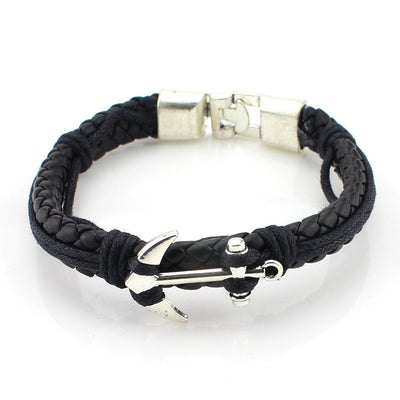 European Style Braided Leather Bracelet