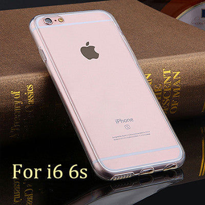 2 in 1 thin Clear Soft TPU Front Case + Shockproof Back Cover