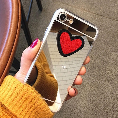 Cute DIY Stitches Love Heart Case For iphone 7 6 6S Plus Fundas