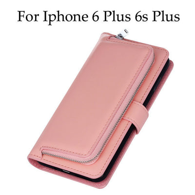 2 in 1 Luxury Leather Flip For Iphone 7 6 6s Plus Cover