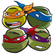 Teenage Mutant Ninja Turtles Label Pack