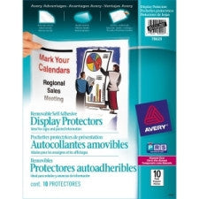 "Avery Repositionable Display Protector - For Letter 8.5"" x 11"" Sheet - Rectangular - Clear - 10 / Pack"