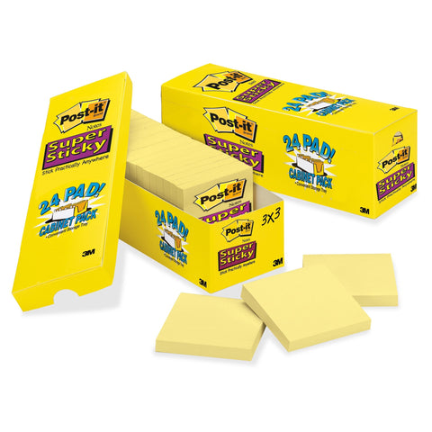 Post-it Cabinet Pack Super Sticky Notes