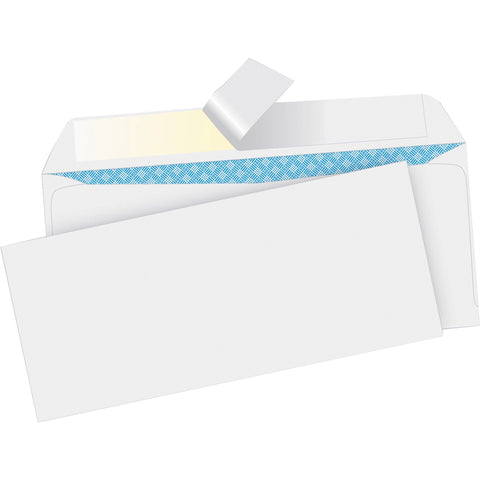 "Business Source Business Envelopes with Security Tint - Business - #10 (9.50"" x 4.13"") - 24 lb - Peel & Seal - Wove - 500 / Box - White"