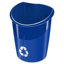 Ellypse Linkable Recycling Bin - 30 L Capacity - Polypropylene - Blue