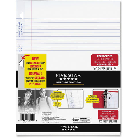 Five Star Reinforced Paper - 100 Sheets