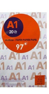 A1‎ : Multipurpose 97 Bright Premium Copy Paper 11 x 17 - Ream of 500 Sheets