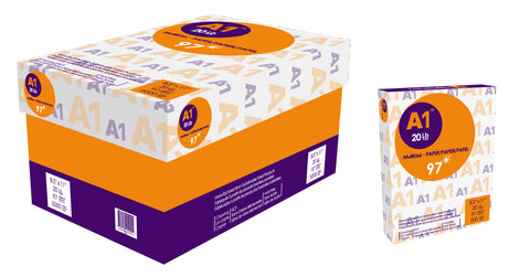 A1‎ : Multipurpose 97 Bright Premium Copy Paper 11 x 17 - 2500 Sheets per Case