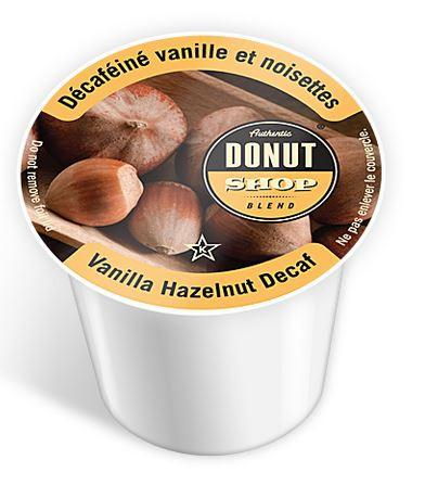 Authentic Donut Shop - Vanilla Hazelnut Coffee Decaf (24 Pack)
