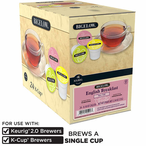 Bigelow® English Breakfast Single Serve Tea Pods (24 Pack)