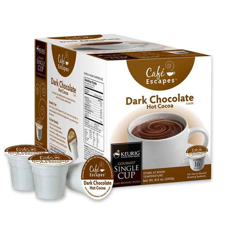 Cafe Escapes® Dark Chocolate Hot Cocoa Single Serve Cups (24 Pack)