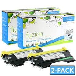 Fuzion New Compatible Black Toner Cartridge for Brother TN450 (Dual Pack)
